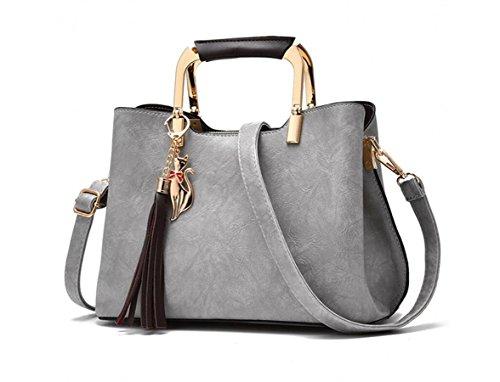 Damen Handtasche, Vintage Schulter Messenger Bag,Schwarz