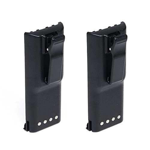 2 Pack of Motorola LTS2000 (With Normal Belt Clip) Battery - Replacement for Motorola HNN9628 Two-Way Radio Battery (1800mAh, 7.2V, NIMH)