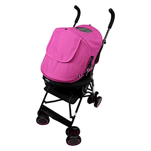 Evezo Sander Lightweight Stroller with 5-Point Harness, Compact Fold, Pink