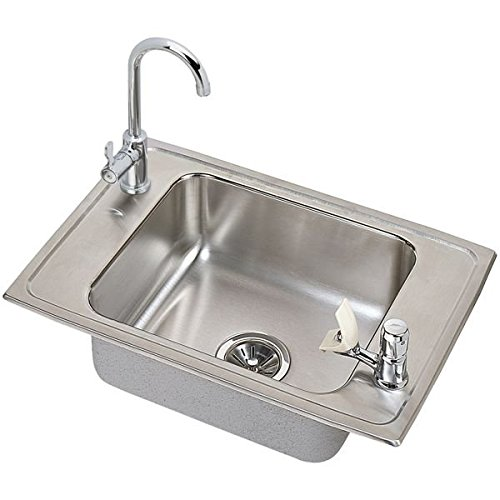 Bowl Elkay Sink Classroom Single (Elkay CDKAD251765C 20 Gauge Stainless Steel 25