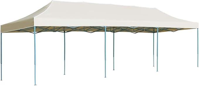 vidaXL Carpa Plegable Pop-up 3x9m Crema Toldo Cenador Marquesina Tienda Jardín: Amazon.es: Hogar