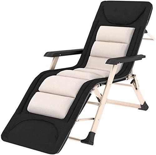 Tumbonas Jardin Plegable acolchada silla reclinable silla de cubierta Textilene jardín con reposacabezas extraíble, Oficina Relax Tumbona fuera Tomar el sol cama de playa Balcón (Altura, 178cm), 185cm: Amazon.es: Jardín