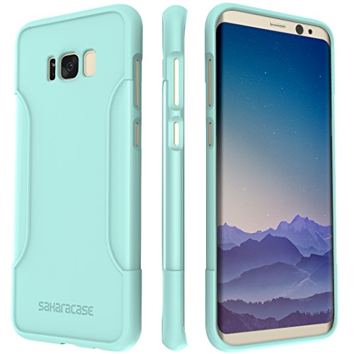 SaharaCase Galaxy S8 Plus Case OnlyCase Series Slim Fit & Protective with Shock-Absorbing Edges & Anti-Slip Grip for Samsung Galaxy S8 Plus (2017) – (Aqua Mint)