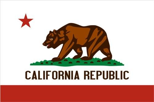 (CALIFORNIA STATE FLAG GLOSSY POSTER PICTURE PHOTO bear angeles sacremento ca)