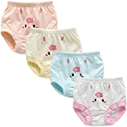 Whteian Baby Girls Training Underwear Newborn Infant Training Underpants Toddler Kids Training Pants Briefs 0-