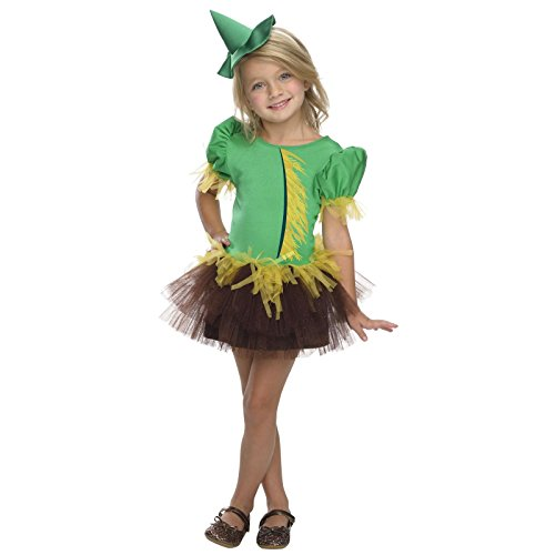Girl Scarecrow Halloween Costumes (Rubies Wizard of Oz 75th Anniversary Collection Scarecrow Tutu Dress Costume, Child Small)
