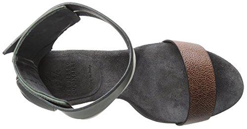 Brunello Cucinelli Womens Dress Sandal Black/Brown Or7UAyK