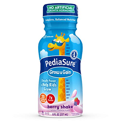 Real Gains Strawberry - PediaSure Grow & Gain Nutrition Shake For Kids, Berry, 8 fl oz (Pack of 6)