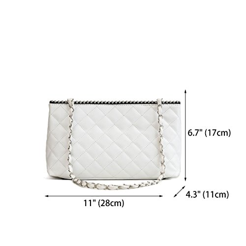 Bags Leather Bags Women's Body Handle Cross Handbags Shoulder Off Top white Faux Bags EwqE1nxH