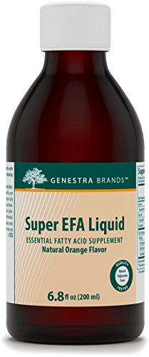 Genestra Brands - Super EFA Liquid - Supports Cardiovascular, Brain, Eyes, and Nerves* - Natural Orange Flavor - 6.8 fl oz (200 ml)