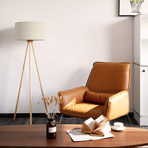 Buy wood tripod floor lamp
