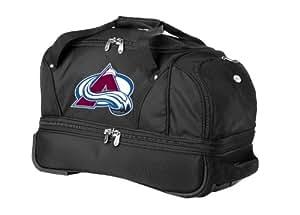NHL Colorado Avalanche Denco 22-Inch Drop Bottom Rolling Duffel Luggage, Black