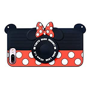 "Camera Minnie Case for iPhone 8 7 6 6s 4.7"",3D Cartoon Animal Design Cute Soft Silicone Rubber Protective Cover,Kawaii Animated Stylish Fashion Cool Skin for Kids Child Teens Girls (iPhone8/7/6)"