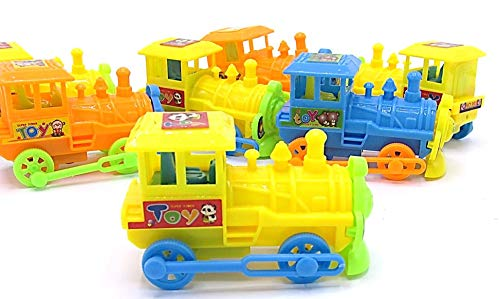 dazzling toys Pull Back Trains - Pack of 12 (D131)