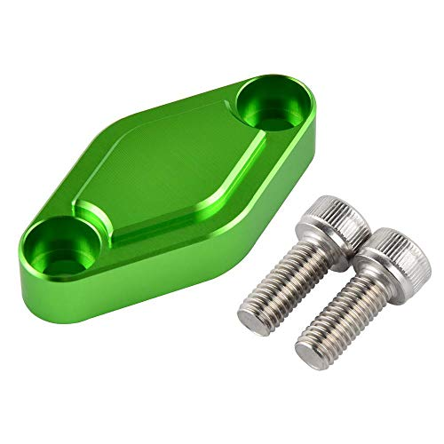 ATV Parking Brake Block Off Plate for Kawasaki KFX 400 450R 50 700 80 90 TECATE-4 KXF250 Lakota 300 Mojave 250 Lakota 300 Green ()