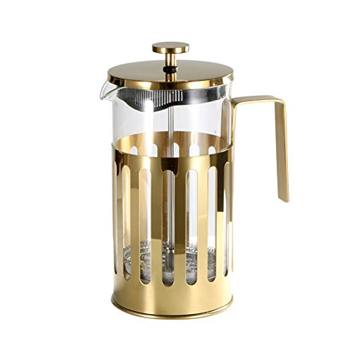 Cafetera de prensa francesa, émbolo de café de acero inoxidable con filtro, cafetera manual para viajes, oficina en casa…