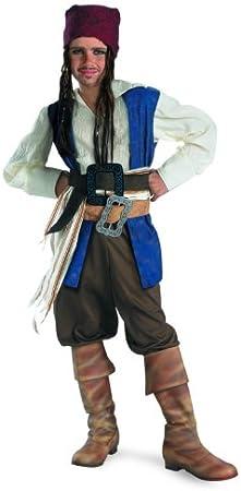 Disfraz 156.236 Piratas del Caribe-Tama-o Jack Sparrow Costume Ni ...