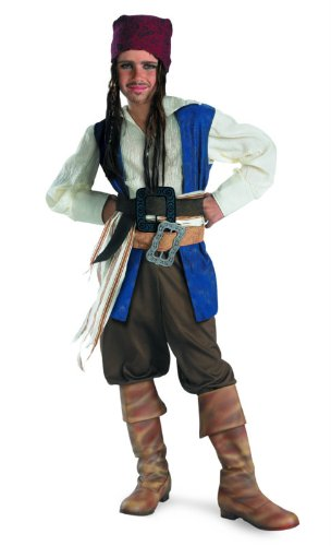 Captain Jack Sparrow Classic Costume - Medium (7-8) -