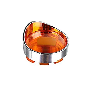 OUYAWEI 1 Paire de Clignotants de Style /à visi/ère en Chrome enjoliveurs lentille 4 Couleurs pour Harley Davidson placage Rouge Accessoires de Voiture