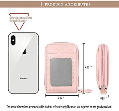 MaxGear RFID Credit Card Holder for Women Wallets Small Coin Purse Leather Credit Card Wallet Zipper