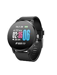 Unique-Fit Smart Watch Fitness Tracker Smart Watch IP67 Monitor de Actividad, Monitor de Pasos, Reloj Deportivo Inteligente para niños, Mujeres y Hombres (Morado)