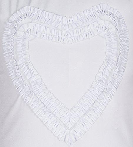 Girls' Ruffled Valentine Solid Rash Guard Swim Shirts UPF 50+ Sun Protective (12, White Long) by Holy Unicorn (Image #5)