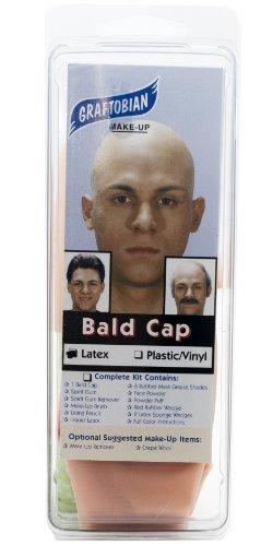 Bald Makeup (Graftobian Make-Up Company Latex Bald Cap)