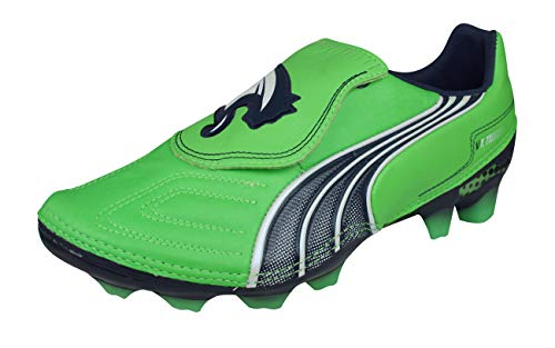 PUMA V1.11 i K FG Mens Leather Soccer Boots/Cleats-Green-7.5