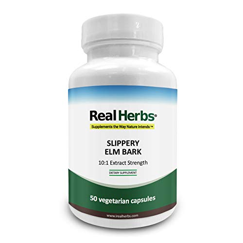 Real Herbs Slippery Elm Bark Extract-Derived from 7000mg of