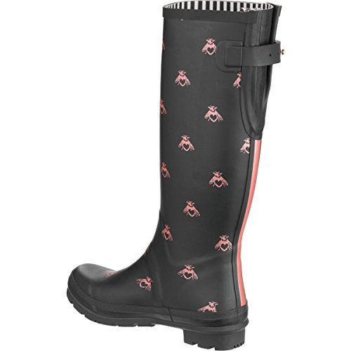Joules Womens Welly Print Black Love Bees Rubber Boots 7 US by Joules (Image #2)