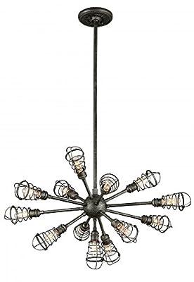 Troy Lighting Conduit 1-Light Pendant - Old Silver Finish