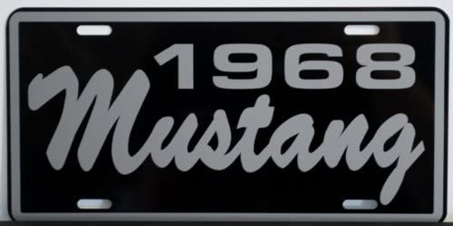 1968 Year Brushed Metal Look License Plate 6 X 12 Inches New Aluminum