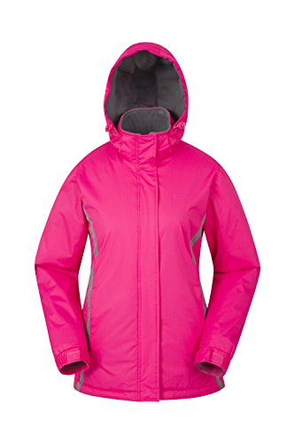 Mountain Warehouse Moon Women's Ski Jacket - Water Resistant, Windproof, Adjustable Cuffs & Drawcord Waist with Snow-Skirt, Pockets - Ideal for First Time Skiers Pink - Snowboard Goggles Canada