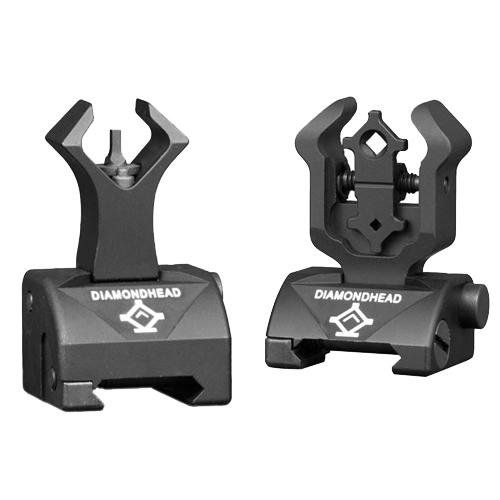 Diamond Rear & Gas Block Front Sight (for - Ar 15 Lower Receiver Block