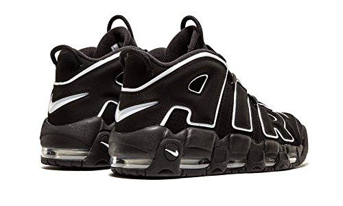 Nike Mens Air More Uptempo Black/White-Black Leather 4