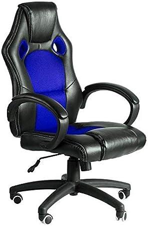 Regalos Miguel - Sillas Gaming - Silla Pro - Azul y Negro - Envío Desde España: Amazon.es: Hogar
