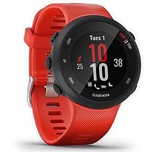 Garmin Forerunner 45 GPS Running Watch with Garmin Coach Training Plan Support – Lava Red, Large