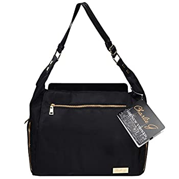 Image of Baby The New Yorker Breast Pump Bag by Charlie G, Black/Gold (Mini)