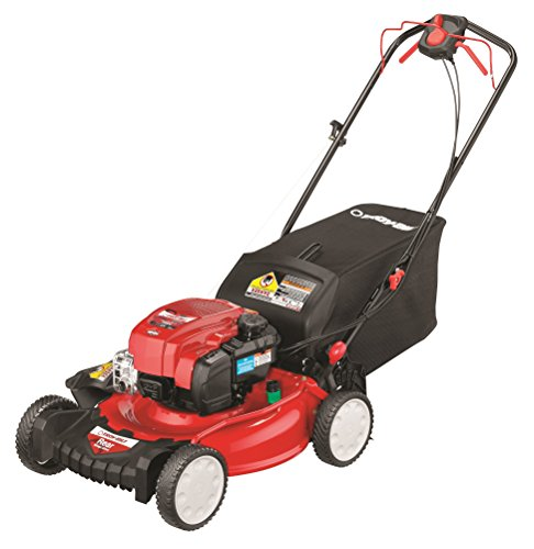 Deck Rear Bag Push - Troy-Bilt TB330 163cc 21-inch 3-in-1 Rear Wheel Drive Self-Propelled Lawnmower