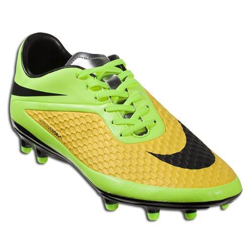 Nike Hypervenom Phelon FG Men's Soccer Cleats (14 D(M) US, VIBRANT YELLOW/METALLIC SILVER/VOLT ICE/BLACK)