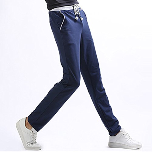 Zhuhaitf Casual Mens Sports Pants Straight Comfortable Trousers Blue