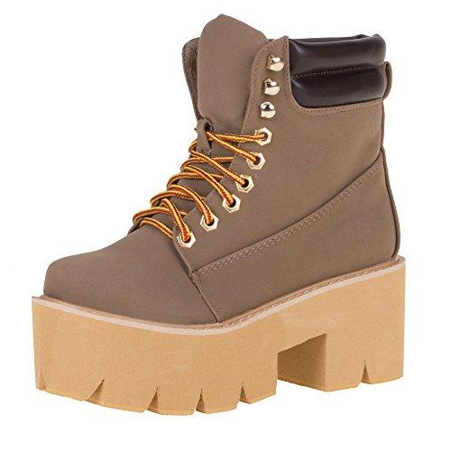 Damen Schuhe, CL-6, STIEFELETTEN Braun