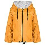 Kids Girls Boys Mustard Hooded Raincoats Cagoule Lightweight Jackets Rain Mac 5-13