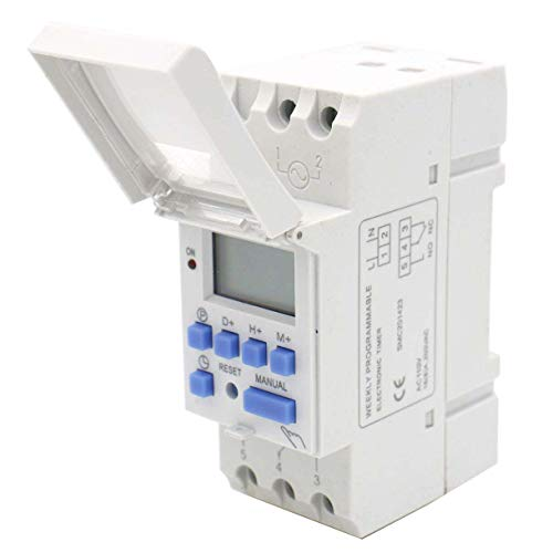 (Baomain THC15A AC 110V Digital LCD Power Programmable Timer Time Switch Relay 16A Amp)