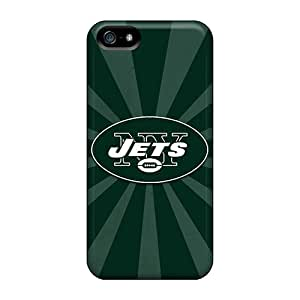 Tpu New York Jets Pattern Protector Case Protective Cover For Iphone 5/5s