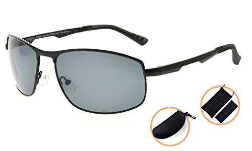 monture femmes lunettes soleil Eyekepper de Lunettes soleil Verre Gris hommes Polycarbonate verres en Polarisees Noir pour verres Metal AgI6xwxvq