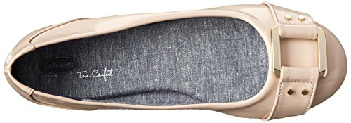 Scholl's Patent Ballet Frankie Taupe Dr Women's Flat CxwPqEdU