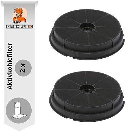 DREHFLEX – Filtro de carbón 2 pieza filtro de carbón activo filtro de carbono para campana 190 mm, aptas para refsta hauben – Válido para filtros de carbón K25.: Amazon.es: Hogar