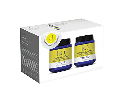 EO Lemon Eucalyptus Foam Hand Soap, 10 Fl. Oz. Foam Cartridges (2 pack)