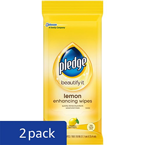Pledge Lemon Wipes, 24 Count (Pack of 2) - 2